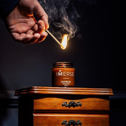 Свеча ароматическая Gambler, 110 мл