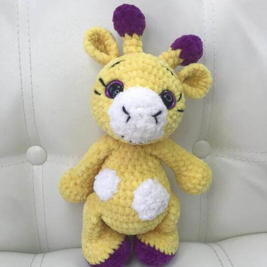 Вязаные игрушки жирафик