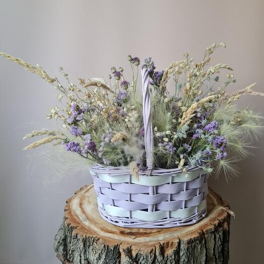 Большая интерьерная композиция с сухоцветами