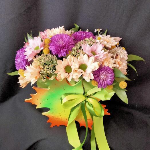 Ящик лист с цветами