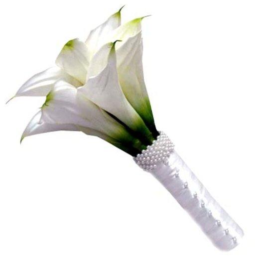 Свадебный букет из калл Стиль: букеты цветов на заказ Flowwow