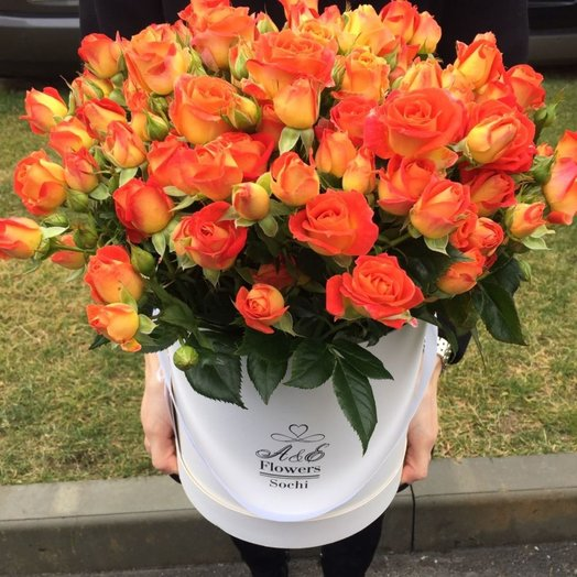 Оранжевое счастье: букеты цветов на заказ Flowwow