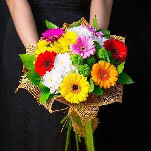 Букет микс с герберами: букеты цветов на заказ Flowwow