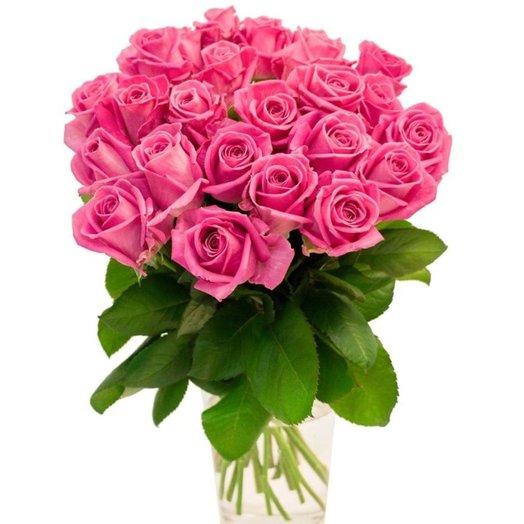 15 розовых роз 50 см: букеты цветов на заказ Flowwow