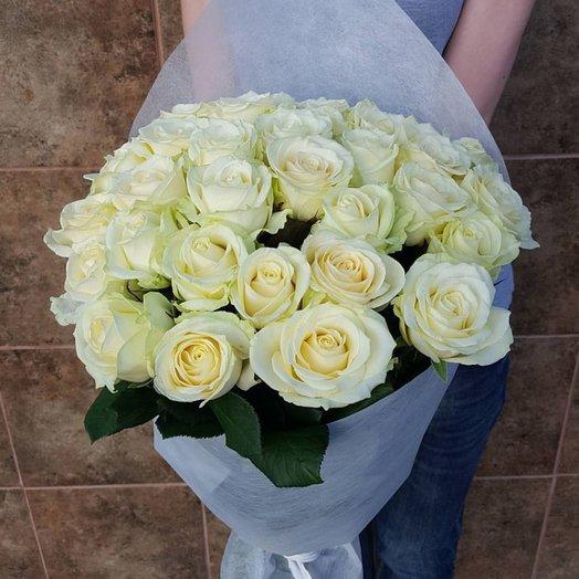 Букет из 33 белой розы: букеты цветов на заказ Flowwow