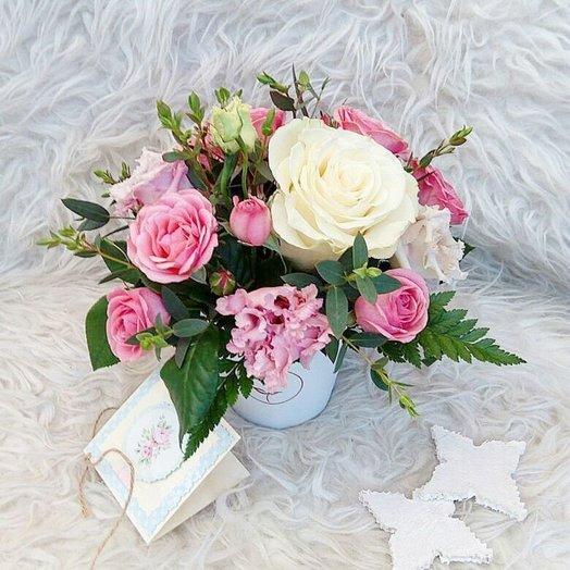 Цветочный комплимент розовый: букеты цветов на заказ Flowwow