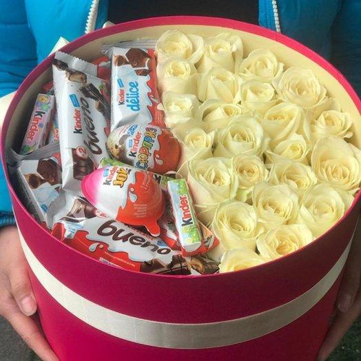 Коробка Киндер 2: букеты цветов на заказ Flowwow