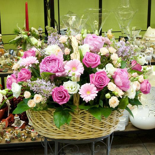 """Корзина цветов """"Гламурная"""": букеты цветов на заказ Flowwow"""