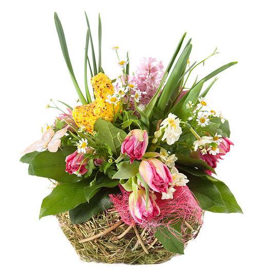 Цветочная композиция «Гнездо»: букеты цветов на заказ Flowwow