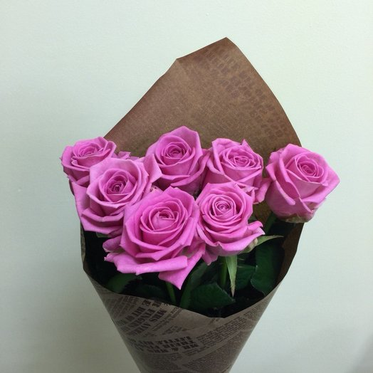Bouquet of pink roses 7 PCs in pack: flowers to order Flowwow