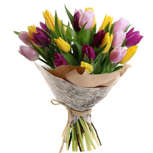 Ассорти тюльпан: букеты цветов на заказ Flowwow