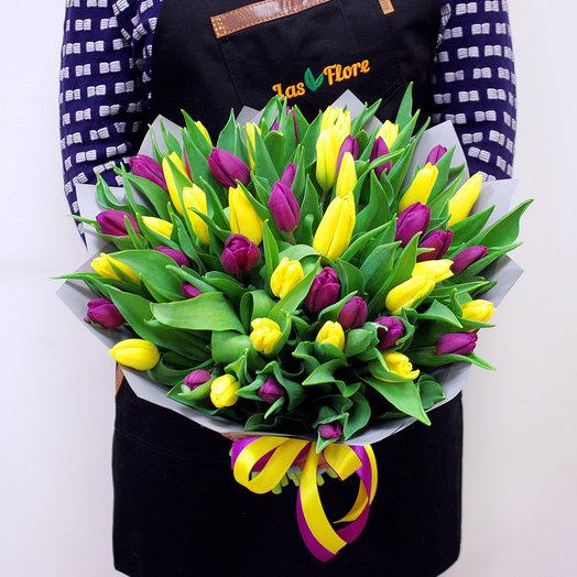 """Букет """"Марьян"""" (51 тюльпан): букеты цветов на заказ Flowwow"""