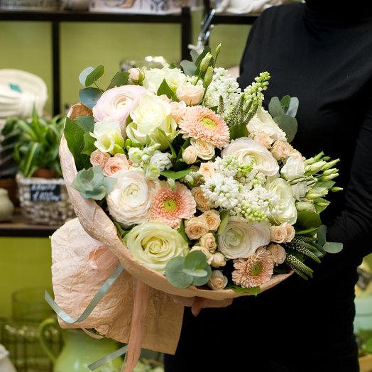 """Букет цветов """"Пудровый"""""""