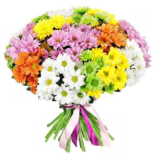 Букет хризантем Микс: букеты цветов на заказ Flowwow