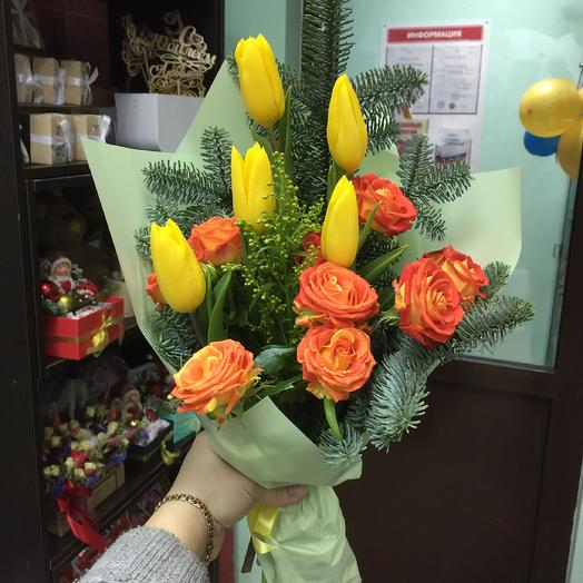 Зимние тюльпаны: букеты цветов на заказ Flowwow