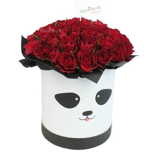 """51 красная роза """"Панда"""": букеты цветов на заказ Flowwow"""