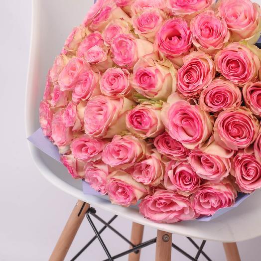 51 роза 50см Esperance Premium: букеты цветов на заказ Flowwow