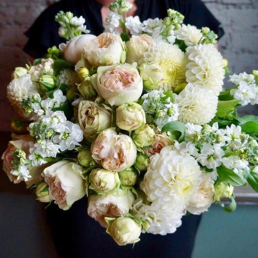 Розы и Георгины: букеты цветов на заказ Flowwow