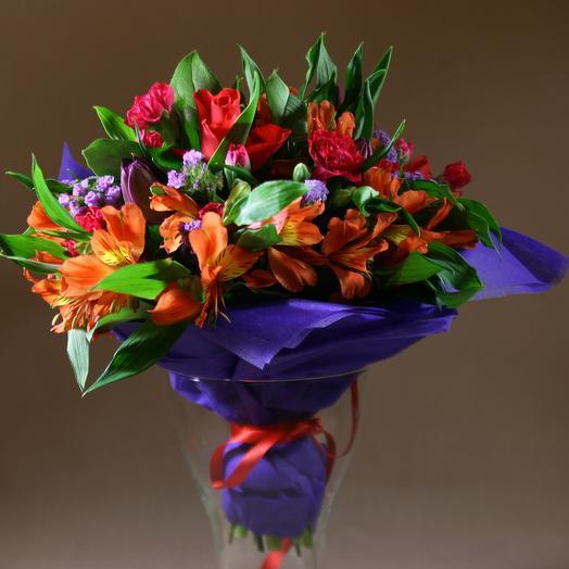 Яркий и радужный ! Букет: букеты цветов на заказ Flowwow