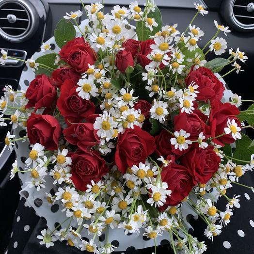 У меня букет в горошек, разве ты не знаешь: букеты цветов на заказ Flowwow