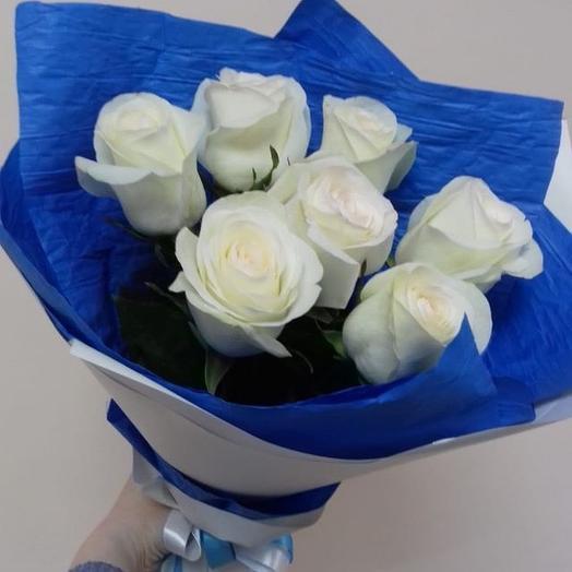 Букет из 7роз: букеты цветов на заказ Flowwow