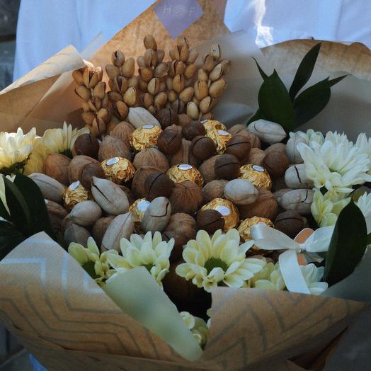 Букет из орехов и конфет: букеты цветов на заказ Flowwow