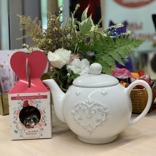 Заварочный чайник: букеты цветов на заказ Flowwow