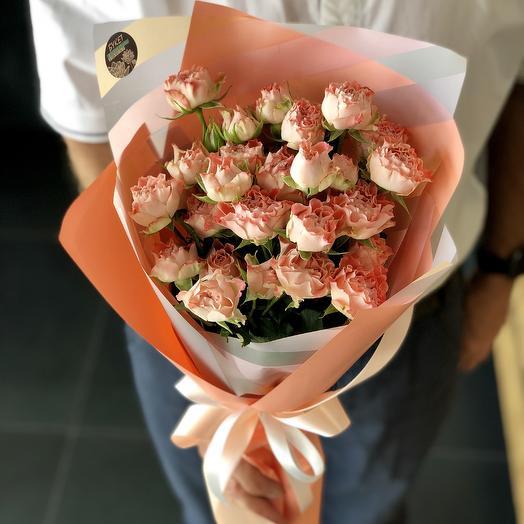 Пионовидные розочки: букеты цветов на заказ Flowwow