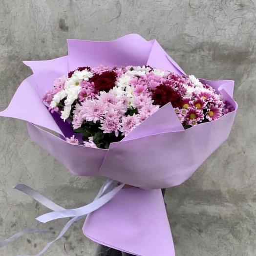 Гигант букет из хризантем: букеты цветов на заказ Flowwow