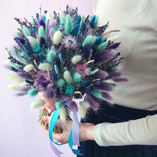 16 «Бирюза и лаванда» (M): букеты цветов на заказ Flowwow