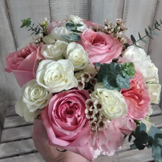 "Букет невесты ""Pink and White"""