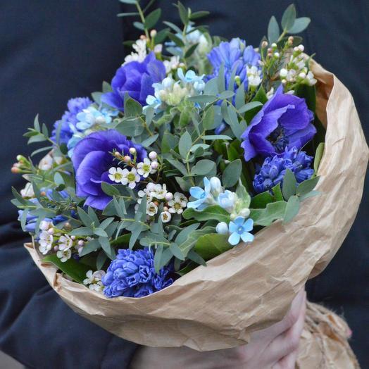 """Букет """"Голубой огонёк"""": букеты цветов на заказ Flowwow"""