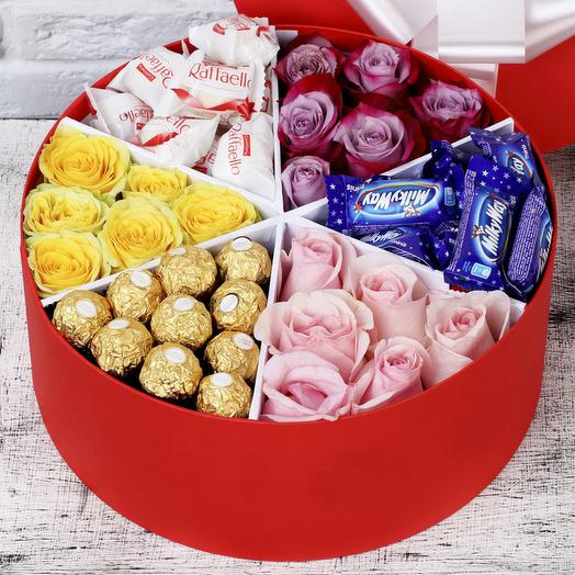 Sugar box 21 роза: букеты цветов на заказ Flowwow