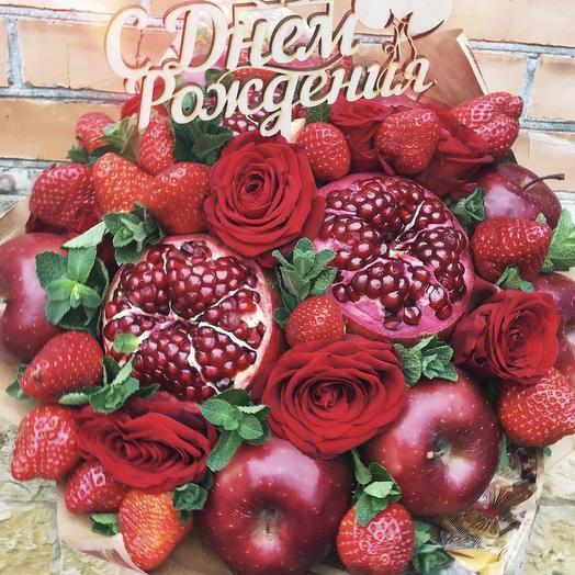 Фруктовый букет «гранат»: букеты цветов на заказ Flowwow