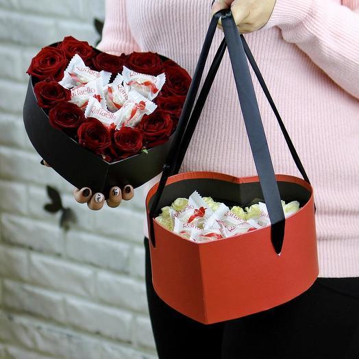 Дабл сердце: букеты цветов на заказ Flowwow