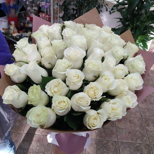 Шикарный букет 51 белая роза