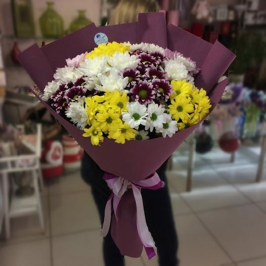Микс хризантемы: букеты цветов на заказ Flowwow
