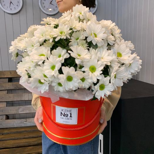 "Шляпная коробка ""Любимой"": букеты цветов на заказ Flowwow"