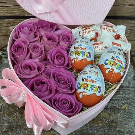 Коробка-сердце с конфетами
