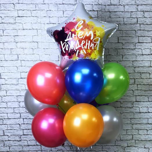 Воздушные шарики на день рождения: букеты цветов на заказ Flowwow