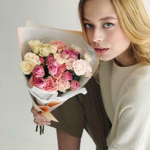 Моно из кустовой розы MIX