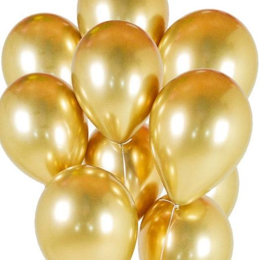 Набор хромированных шаров 10 шт золото