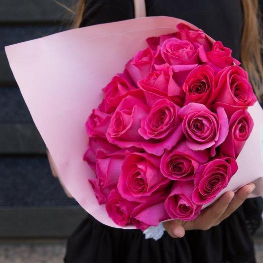 Роза Пинк Флоид 25 шт в упаковке: букеты цветов на заказ Flowwow