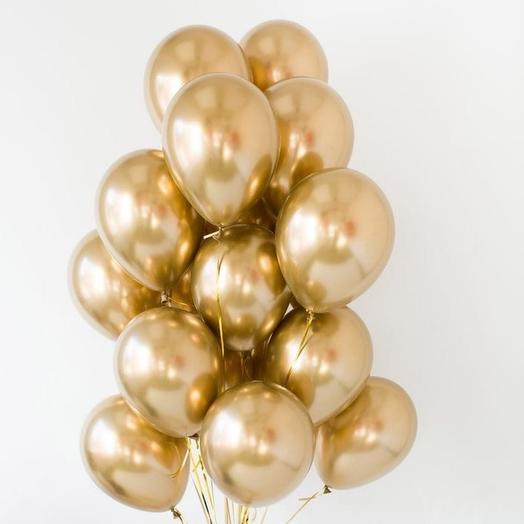 15 helium balloons chrome