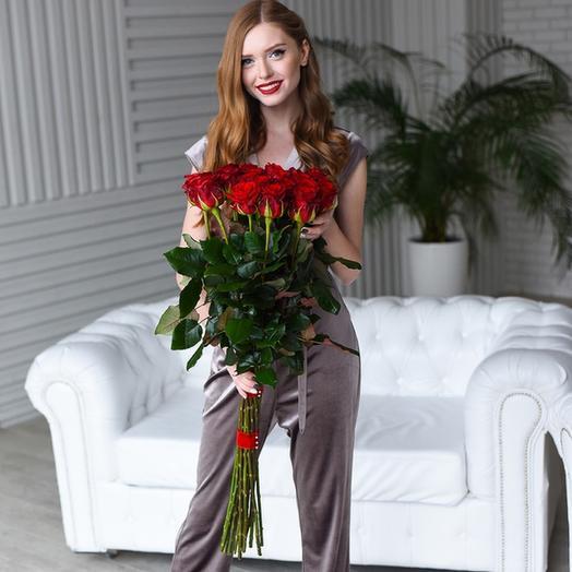 Букет из 21 розы Мери Ми