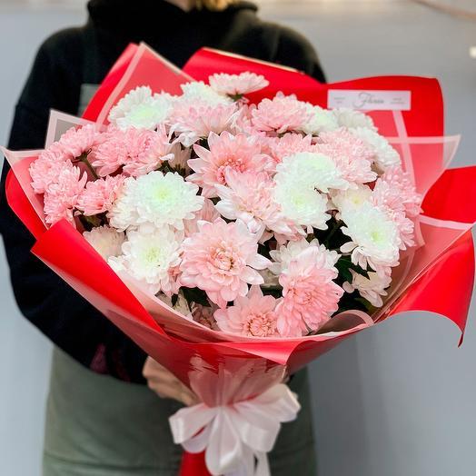 Букет хризантем «Приятный сюрприз»