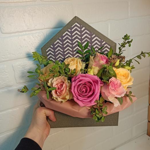 Розы в конверте