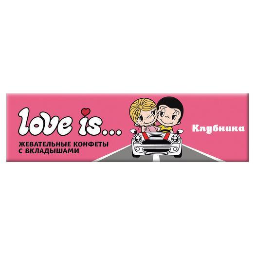Жевательная конфета LOVE IS со вкусом Клубники 25 г