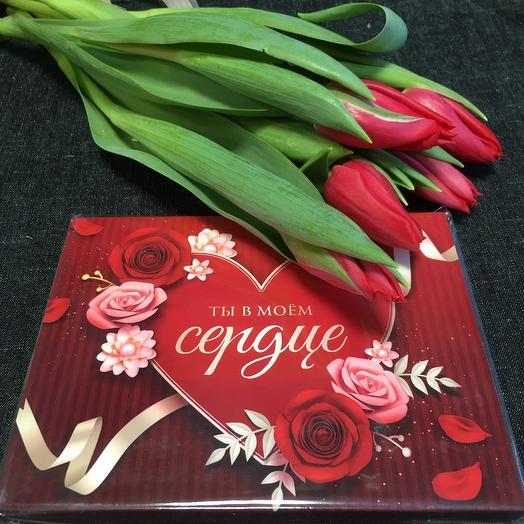 Тюльпаны и шоколад 🌹