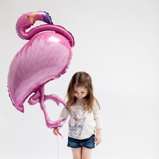 Шар фигура «розовый фламинго»